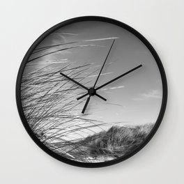 Monochromatic Sand dunes at Fistral Beach. Wall Clock