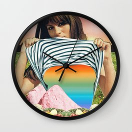 Internal Rainbow II Wall Clock
