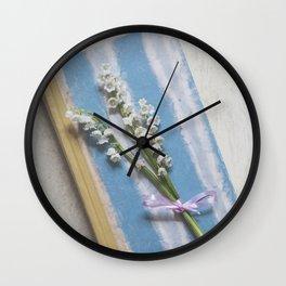 Romantic Book Wall Clock