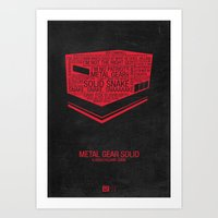 metal gear solid Art Prints featuring Metal Gear Solid Typography by Kody Christian