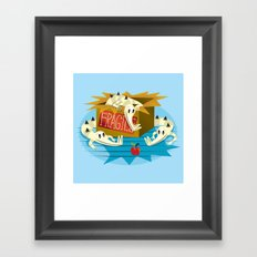 Crocs, Box and Apple Framed Art Print