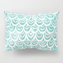Watercolor Mermaid Turquoise Pillow Sham