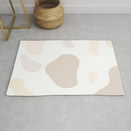 Moo patches - Purple yam colour series  Rug