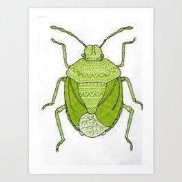 Aztec printed bug Art Print