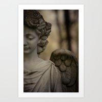 angel Art Prints featuring Angel by Maria Heyens