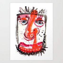 Man Flu Art Print