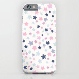 Cute Pastel Stars pattern iPhone Case