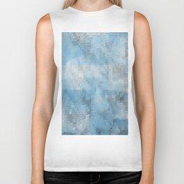 Abstract blue pattern 3 Biker Tank