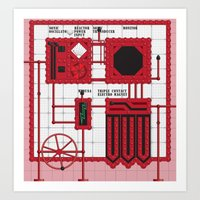 rocky horror Art Prints featuring Rocky Horror Control Panel by Shawn Hall Design