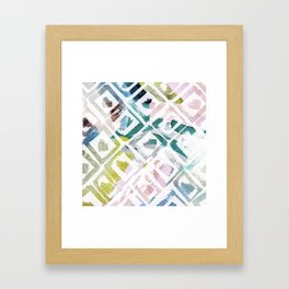 Awash | Colorful Geometric Print Framed Art Print