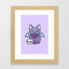 Black Bat Kitten 01 Framed Art Print