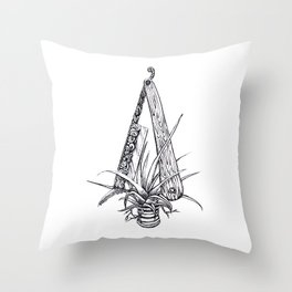 Bromeliad Barber Throw Pillow