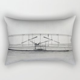The Wright Brother's aeroplane Rectangular Pillow