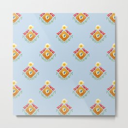 Waffles and Bacon (Robin's Egg Blue) Metal Print