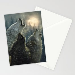 Wolves Howling Moon - In Harmony Stationery Cards