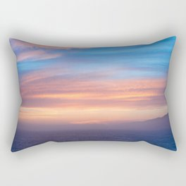 Blue Dreams Sunset - Ocean Sunset, Landscape, Scenery, Beautiful Orange Yellow Rectangular Pillow