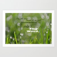 Psalm 119 Tears Art Print