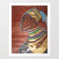 Blackman or African Art Print