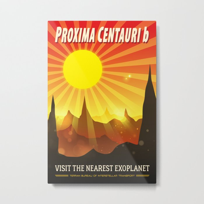 Proxima Centauri b Exoplanet Travel Illustration Metal Print