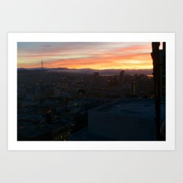 Sutro Sundown Art Print