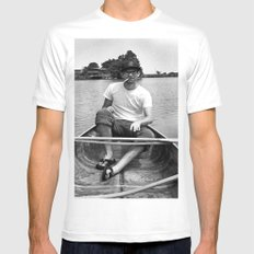 Ronn boating it up. White MEDIUM Mens Fitted Tee