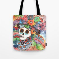 lee pace Tote Bags featuring Social Pace by Adrienne S. Price