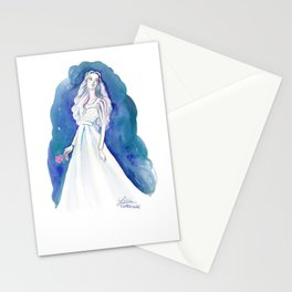 Blue Maiden Stationery Cards
