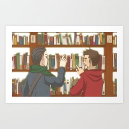 FrostIron at the library Art Print