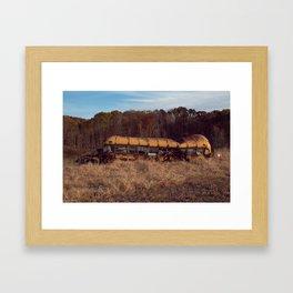 Rare Southern Ohio Field Bus Framed Art Print