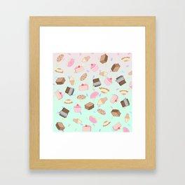 Pastel Desserts Framed Art Print