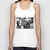 motorcycle Tank Tops featuring Motorcycle by James Tamim