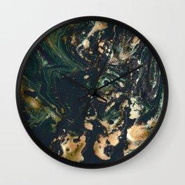 Fluid Gold Series II Wall Clock
