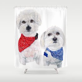 Molly and Noah Shower Curtain