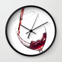 Elegant Red Wine Photo Wall Clock