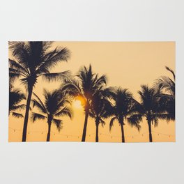 Good Vibes #society6 #palm trees Rug