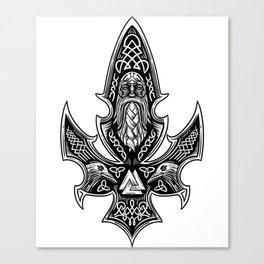 Gungnir Odin'S Spear Viking Runes Ravens Shirt Canvas Print