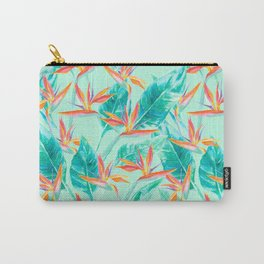 Birds Of Paradise Mint Carry-All Pouch