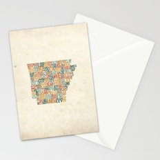 Arkansas by County Stationery Cards
