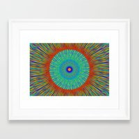 kaleidoscope Framed Art Prints featuring Kaleidoscope  by BrucestanfieldartistPatterns