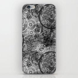 Clockwork Collage Grey iPhone Skin