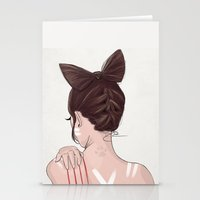 catwoman Stationery Cards featuring Catwoman by Chelsea Hantken