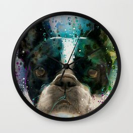 Paint It Frenchie Wall Clock