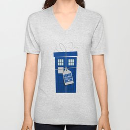 What's in the blue box? (Doctor Who) Unisex V-Neck