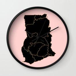 Ghana map Wall Clock