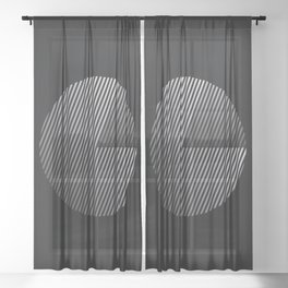 Striped Disc 2 Sheer Curtain