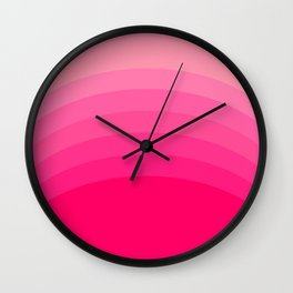 Pink Wave Wall Clock
