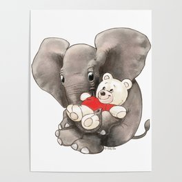 Baby Boo with Teddy Poster