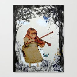 SHE PRACTISED IN THE GARDEN EVERYDAY Canvas Print