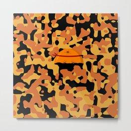 Military Orange Metal Print