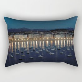 Night view of Donostia-San Sebastian. Spain. Rectangular Pillow